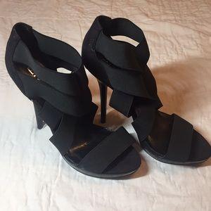 Sexy Black Strap High Heels